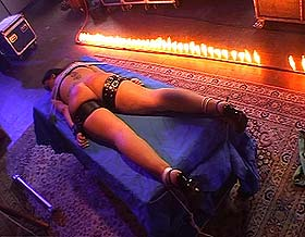Fire ordeal0  fetishnetwork com  sadistic bastard uses fire and needles to terrify his captive. FetishNetwork.com - Sadistic bastard uses fire and needles to terrify his captive
