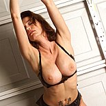 Fine breasts0  super hot breasts slut chained to the garage door. Super hot tits bitch chained to the garage door