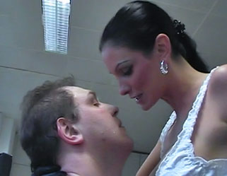 Slave in training0  fetishnetwork com  a hung sub is forced to act like a pony to please his twisted mistress at work. FetishNetwork.com - A hung sub is forced to act like a pony to please his twisted mistress at work