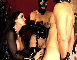 Latex and sex0  fetishnetwork com  femdom carmen has her slaves worshipping her cunt. FetishNetwork.com - dominatrix Carmen has her slaves worshipping her pussy