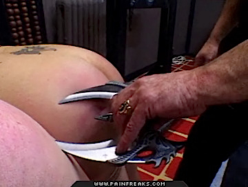 Kitty dagger0  blonde bitch gets a dagger pressed against her vagina. Blonde slut gets a dagger pressed against her kitty