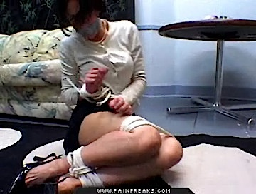 Super hot0  smoking hot brunette tramp is tied and bound in various positions Smoking hot brunette tramp is tied and bound in various positions  .