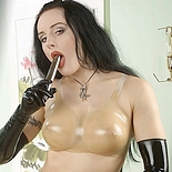 Fetish babe morrigan0  fetishnetwork com  latex model morrigan plays with her dildo. FetishNetwork.com - Latex model Morrigan plays with her dildo