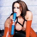 Busty christina0  fetishnetwork com  christina in latex plays with her dildo. FetishNetwork.com - Christina in latex plays with her dildo