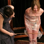 Star bound in plastic0  fetishnetwork com  horny star withstands bridgetts massive binding before being rewarded. FetishNetwork.com - excited Star withstands Bridgetts heavy binding before being rewarded
