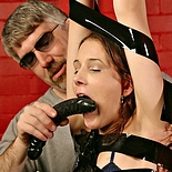 Asymmetric suspension0  fetishnetwork com  lusty madison is winched in the air to expose her anus for spanking. FetishNetwork.com - lustful Madison is winched in the air to expose her anal for spanking