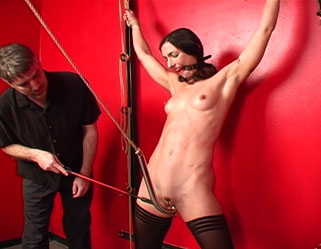 Hook line and sink her0  fetishnetwork com  wenona gets violent treatment with pussy clamps and the voluminous hook. FetishNetwork.com - Wenona gets rough treatment with kitty clamps and the big hook