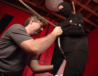 Strapping nice time0  fetishnetwork com  morganna gets bound with leather straps and has the hook pulled up between her legs. FetishNetwork.com - Morganna gets bound with leather straps and has the hook pulled up between her legs