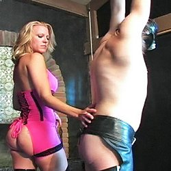 Under the heel0. Jema Eve looks amazing crunching and kicking her helpless slave with her stilettos