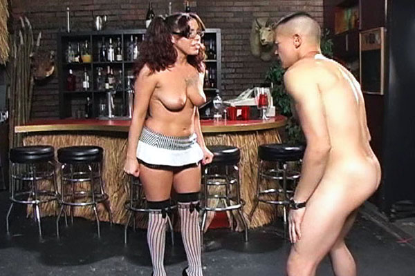 Hot cock punch 0. Tina Tink takes large pleasure in delivering wicked blows to Eric`s testicles