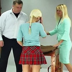 Schoolgirl caning0  lucie has disobeyed her teacher one too many times and is called into the headmasters office for a charming caning   with help from another teacher the headmaster bends lucie over a desk and binds her arms and legs   he lowers her pant. Lucie has disobeyed her teacher one too many times and is called into the headmasters office for a appealing caning.  With help from another teacher, the headmaster bends Lucie over a desk and binds her arms and legs.  He lowers her panties, lifts her skirt an