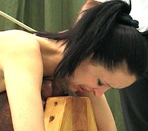 Dominique destruction. For some reason girls never seem to learn to not obey there masters.  Dominique did just that, and was then told to ride a wooden device, exposing her bulbous, soft ass. His cane.  Dominique toke a stiff canning, almost breaking the soft skin of her botto