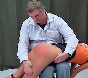 A soft touch1. Occasionally the headmaster will go wild with need to punished his students for things he felt they will eventually commit.  He decided on Trisha, since she had the longest history amongst the girls, in terms of violations.  He had her bent over his leg, an