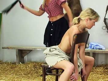 Whipped in a chair  watch karin get whipped while sitting in a chair in this sexy whipping film   karin holds onto the chair with all of her might as her naked back is whipped into submission   karin hates getting whipped and hopes this will be her last w. Watch Karin get whipped while sitting in a chair in this lascivious whipping film.  Karin holds onto the chair with all of her might as her naked back is whipped into submission.  Karin hates getting whipped and hopes this will be her last whipping session for