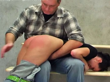 Jeans and a spanking  dominika knows her school has a strict  no jeans  policy but wears them anyway   this brazen act of defiance lands her in the headmasters office and her firm analy in hot water   the headmaster drags her across his lap where she rece. Dominika knows her school has a strict - no jeans - policy, but wears them anyway.  This brazen act of defiance lands her in the headmasters office, and her firm booty in hot water.  The headmaster drags her across his lap where she receives her punishment