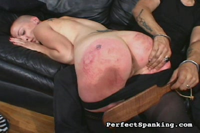 Luscious spanking4. Two Luscious babes get their round asses slap bright red