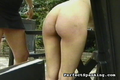 Spanking for two0. Libidinous Domme takes her frustrations out on two elegant young babes