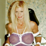 Blonde bombshell0. Master Savage binds this amazon while she eats her panties