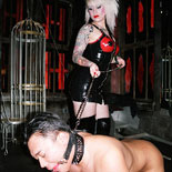 Wild lolas mistress dungeon  wild lascivious lola has a bdsm party punished her helpless slave. Wild lascivious Lola has a BDSM party punish her helpless slave