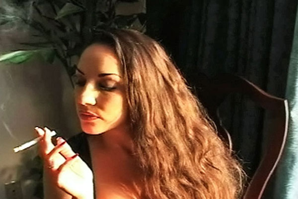 Considerable great titty smoker. Busty Goddess Jewel Teases her friend with clouds of smoke