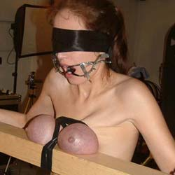 Purple natural tits of pain2. I just love molest my slaves considerable breasts until they turn a nice shade of purple.