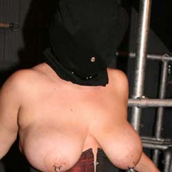 Face bagging fun0. When my slave is extra naughty I place a bag over her head as part of her tit tortured session.