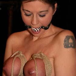 Breast bondage pain machine1. When my slave disobeys me I bring her to my lair and place her on my breast bondage anguished machine.
