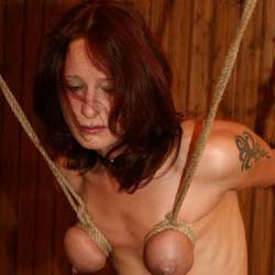 Leather and chains1. Binding a slave in leather and chains really puts a smile on my face.