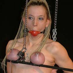 Ball gagging the slave0  placing a ball gag in my slaves mouth while i ravage her hot tits really does turn me on. Placing a ball gag in my slaves mouth while I ravage her hot tits really does turn me on.