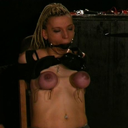 A very naughty slave0. When a slave has been extra naughty I tie them up and watch their boobs slowly turn a pretty shade of purple.