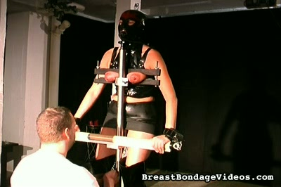 Weighted leather0. When my slaves get naughty I like to dress them in leather and attach weights to their nipples and clit.