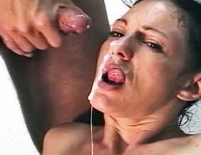 Double teamed latina0  fiesty mature latina has been fantasizing of having two cocks at once. Fiesty mature Latina has been fantasizing of having two cocks at once