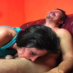 Milf bb and cock sucking. This is one wicked-looking MILF, and she's out to give a rough time to the guy she's with... though she does finally get him off