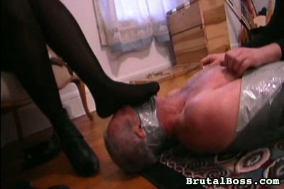 Something s afoot. The slave submits to a assed plug and more tickling, and also to the smell of stinky feet on his face
