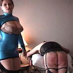 Slave in chains. Watch this slave get abused while in chains under the domination of a mistress
