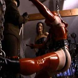 Just encase. A slave is thoroughly encased and anguished