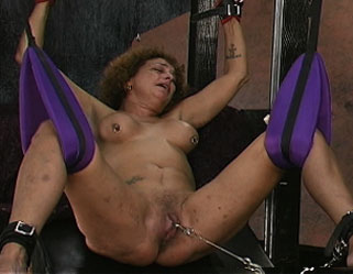 Lesbian pain slutsthis old hag gets a inviting lick after some extreme pussy torture.