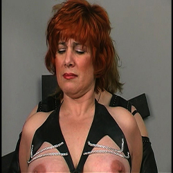 Abused milf. Considerable Titted MILF gets her entire body beaten and tortured by Master Len