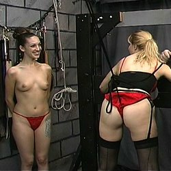 Scarletts first time  master len and his apprentice prepare their new slave for her first punishment session Master Len and his apprentice prepare their new slave for her first punishment session.  .