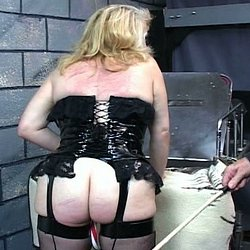 Blondie and the cane0. Blondie gets her bum and vagina caned in this lustful BDSM film.