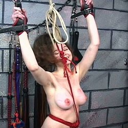 Bound in pain2  master len binds renne in rope and administers a severe punishment session. Master Len binds Renne in rope and administers a severe punishment session.