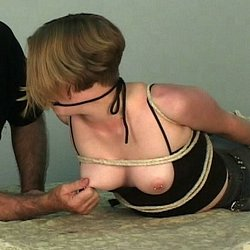 Star and the rope0. Star is bound with rope and make love into oblivion in this hot booty BDSM film.