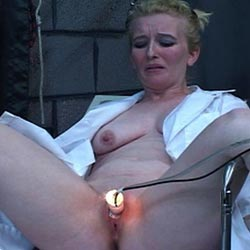 Blondie and the candle0. Blondie has her pussy covered in red hot candle wax as punishment for her slutty ways.