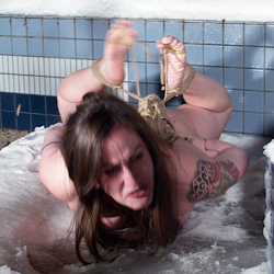 Elizabeth suffers0  elizabeth suffers through depraved bondage rituals and ends up hogtied in the snow. Elizabeth suffers through depraved bondage rituals and ends up hogtied in the snow
