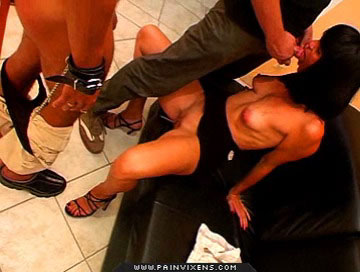 Captive sex0  excited slave wench fucks and give suck her captors Lascivious Slave wench fucks and blowjob her captors.