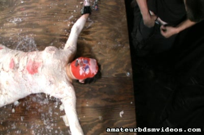 Dungeon humiliation5  syn is mummified in suit of hot wax. Syn is mummified in suit of hot wax