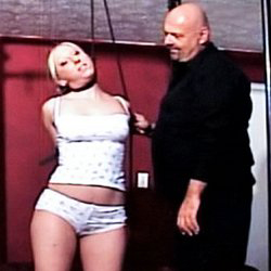 Busty blonde owned by master0. Bdsm forced orgasm