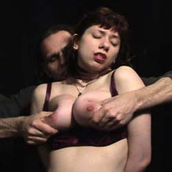 Boob bondage2  how many ways can you tie up and tortured boobs. How many ways can YOU tie up and tormented boobs?