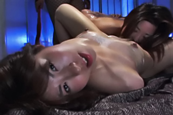 Kissing with saran wrap2. Innocent girls Waka and Yufu try to make out while tied up with saran wrap.  Their perverted dominatrix sees this and teaches them a lesson.  Find out just how twisted their dominatrix is in this sick and twisted Asian bondage film.