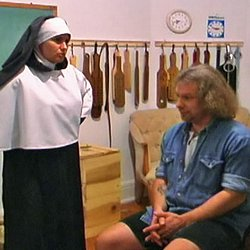 Smoking nuns1. A young hoodlum is discovered smoking in the schoolroom by Sister Morgana.